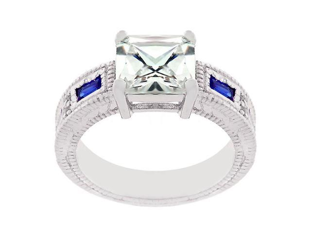 J Goodin Prima Donna Sapphire Blue Cubic Zirconia Ring Size 7