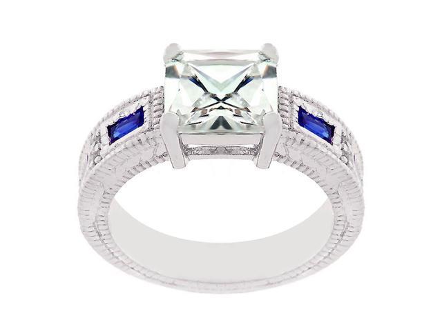 J Goodin Prima Donna Sapphire Blue Cubic Zirconia Ring Size 7