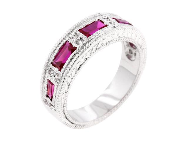 J Goodin Garnet Bezel Eternity Band Size 7