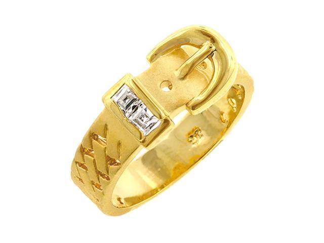 J Goodin Golden Buckle Ring Size 9