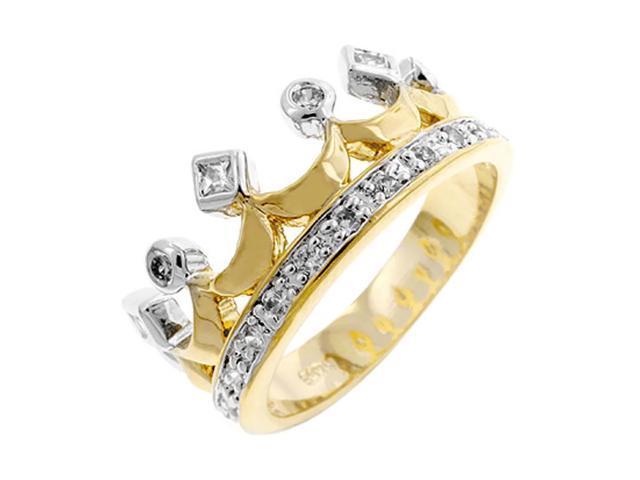 J Goodin Two Tone Crown Ring Size 6