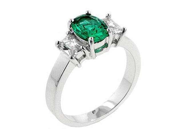 J Goodin Apple Green Engagement Ring Size 5