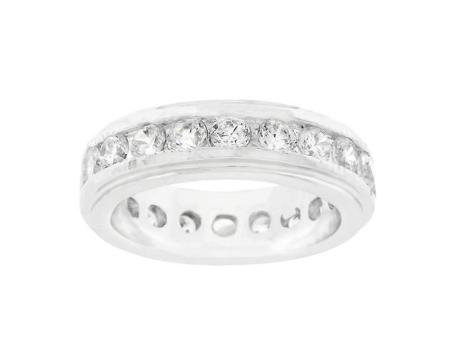 J Goodin New England Eternity Ring in Silvertone Size 6