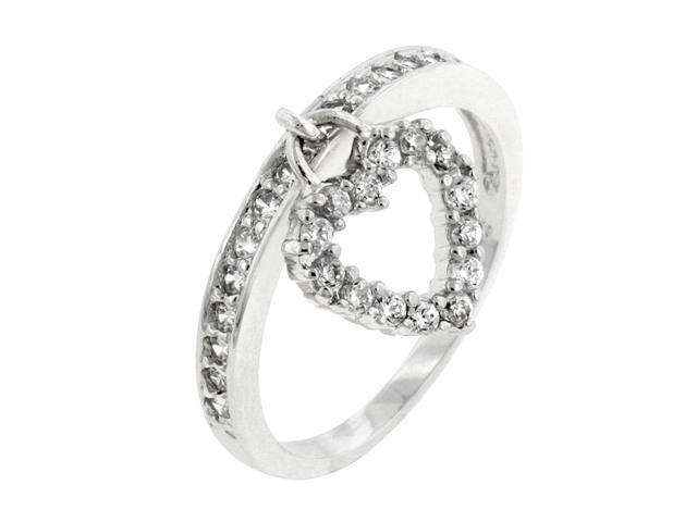 J Goodin Simple Heart Charm Ring Size 6