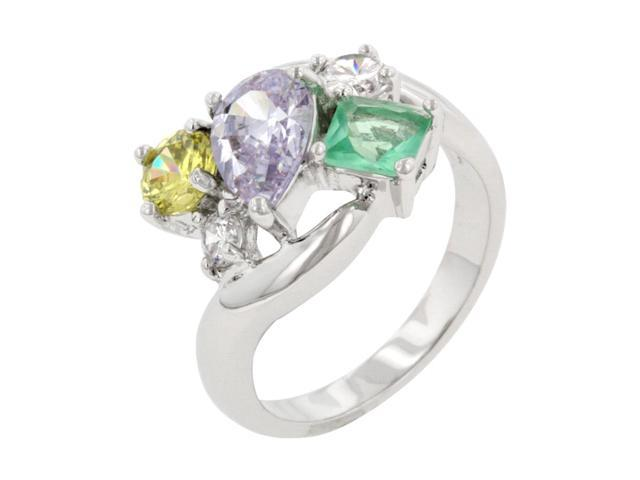 J Goodin Women Fashion Jewellery Bejeweled Cluster Cocktail Ring Size 7