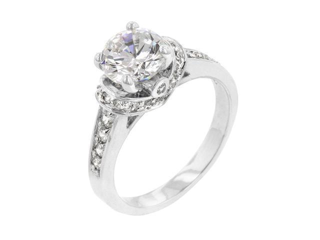 J Goodin Women Fashion Jewellery Silver Regal Ring Size 10