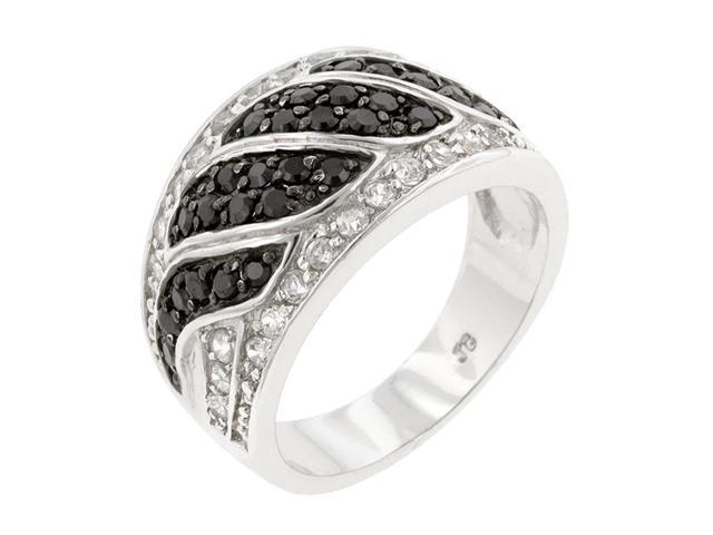 J Goodin Women Fashion Jewellery Black & White Swirl Ring Size 6
