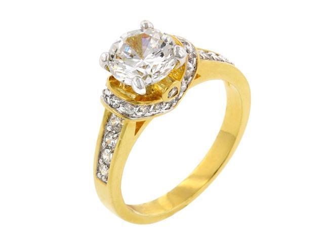 J Goodin Women Fashion Jewellery Golden Regal Ring Size 9