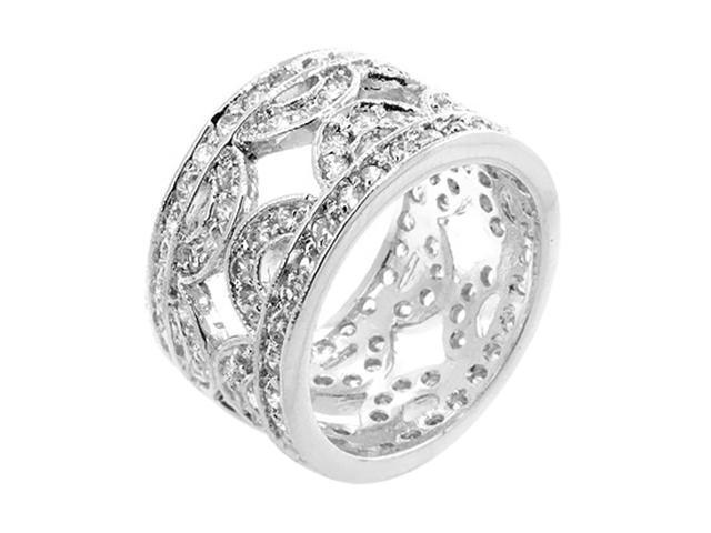 J Goodin Cubic Zirconia Hill Eternity Ring Size 9