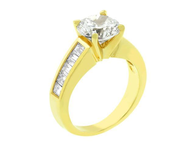 J Goodin Classic Baguette Gold Anniversary Ring Size 8
