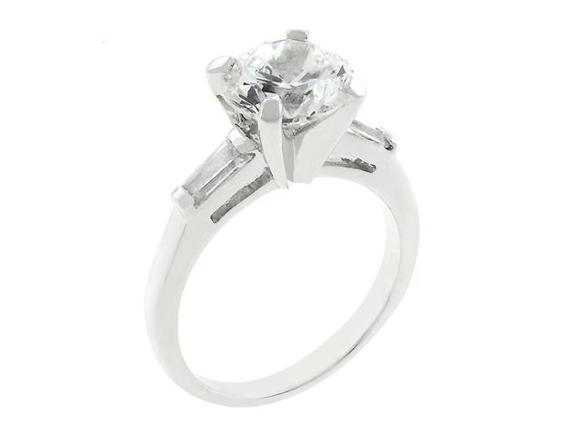 J Goodin Classic Triple White Engagement Ring Size 8
