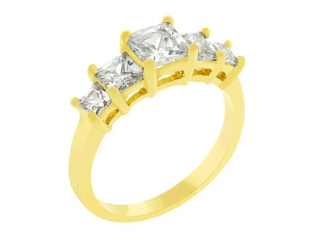 J Goodin 5-Stone Anniversary Ring in Gold Size 8