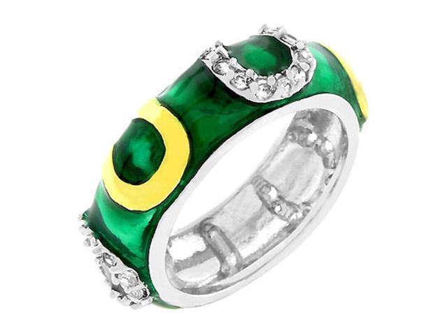 J Goodin Green Enamel Horseshoe Ring Size 10