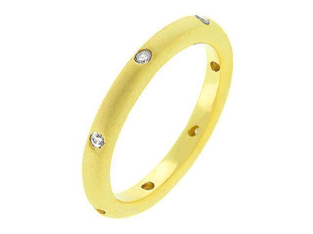 J Goodin Matte Gold Wedding Band Size 7