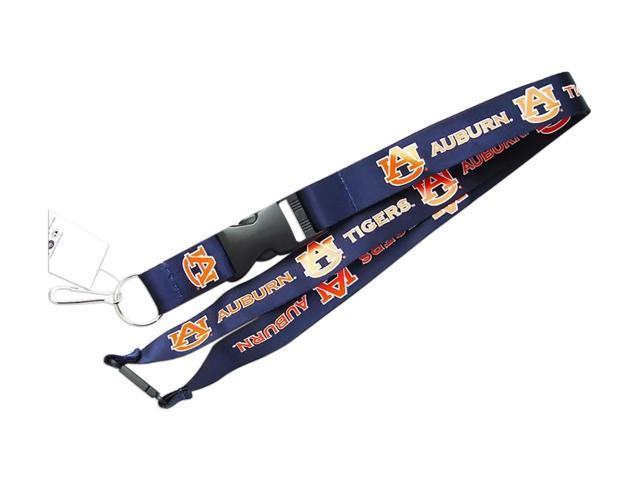 Auburn Tigers Clip Lanyard Keychain Id Holder NCAA Navy