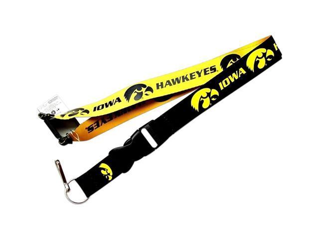 Iowa Hawkeyes Reversible Clip Lanyard Keychain Id Ticket Holder