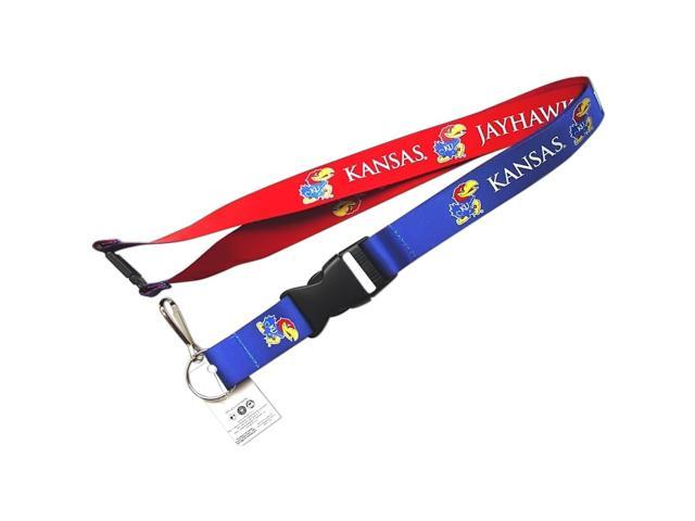 Kanas Jayhawks Reversible Clip Lanyard Keychain Id Ticket Holder