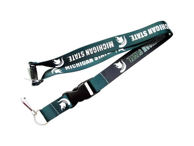 Mich St Spartans Reversible Clip Lanyard Keychain Id Ticket Holder