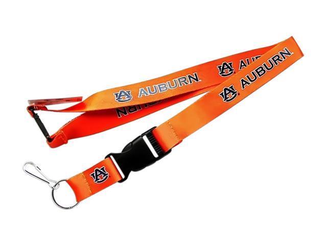 Auburn Tigers Clip Lanyard Keychain Id Holder Ticket Orange