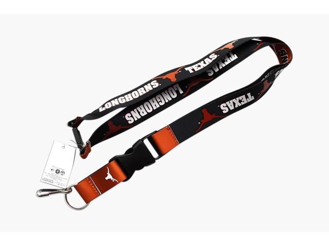 Texas Longhorns Reversible Clip Lanyard Keychain Id Ticket Holder