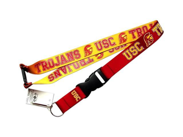 USC Trojan Reversible Clip Lanyard Keychain Id Ticket Holder