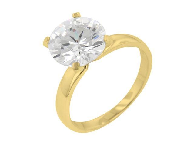 J Goodin Timeless Gold Solitaire Engagement Ring Size 5