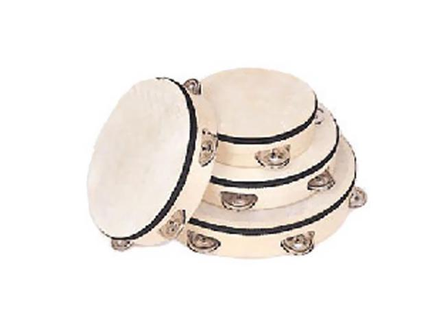 Rhythm Band Tambourine 8 inch Wood Rim