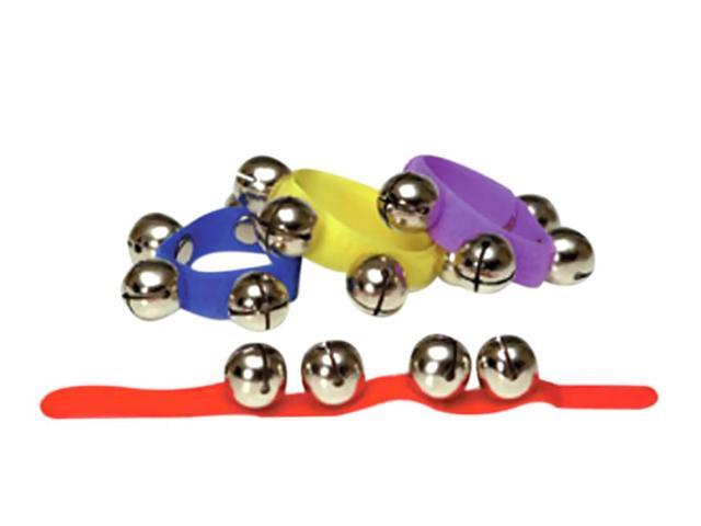 Rhythm Band Colored Asstmt 12 Wrist Bells Velc