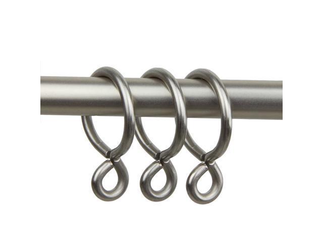 Rod Desyne 10 Curtain Eyelet Rings 1 Inch Inside Diameter Satin Nickel
