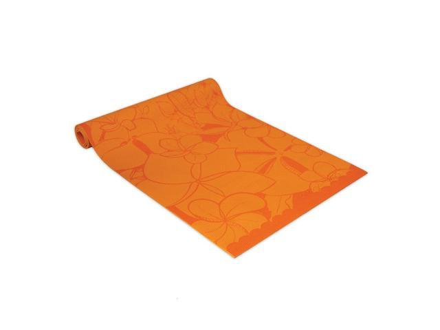 Wailana Plumeria Yogi Mat Orange