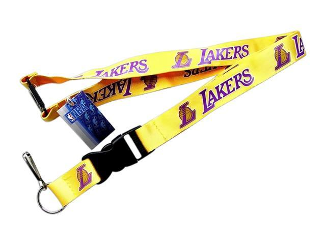 NBA Los Angeles Lakers Clip Lanyard Keychain Id Holder Ticket - Yellow