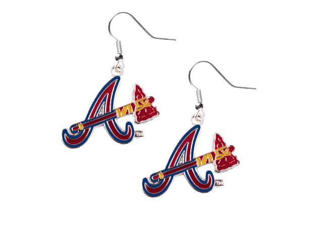 Atlanta Braves Dangle Logo Earring Set Mlb Charm Gift