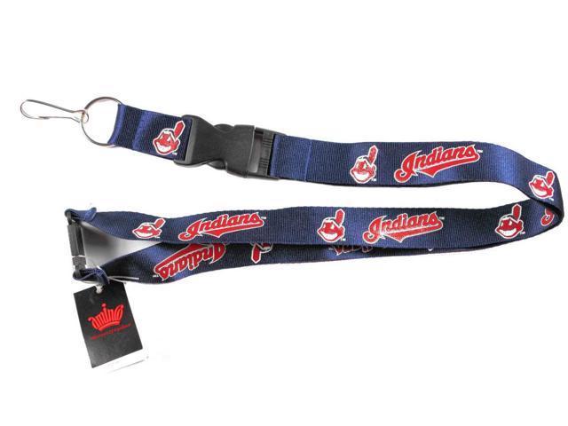 Cleveland Indians Mlb Lanyard Keychain Id Holder Ticket
