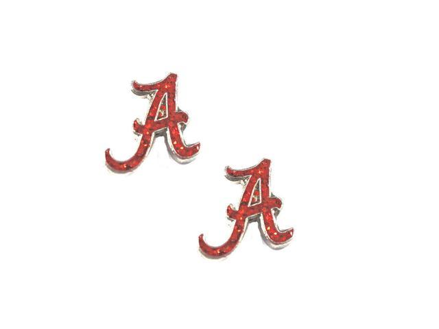 Alabama Crimson Tide Glitter Sparkle Post Stud logo Earring
