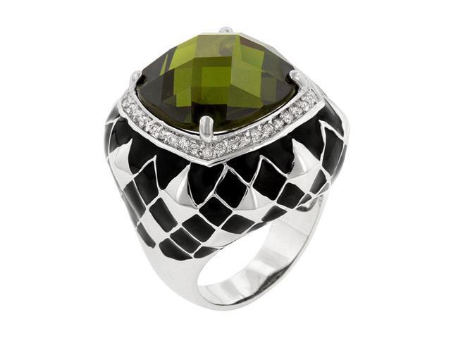 J Goodin Fashion Jewelry Olive Jester Cocktail Ring Size 8