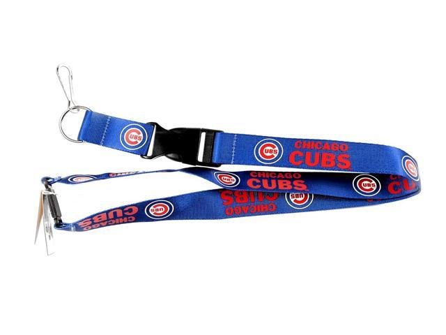 Chicago Cubs Clip Lanyard Keychain Id Holder Ticket Mlb - Blue