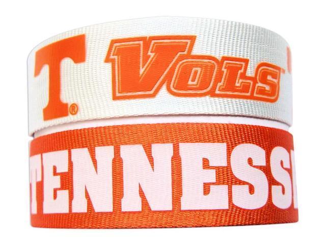 Tennessee Vols Volunteers Slap Snap Wrap Wrist Band (Set of 2) NCAA
