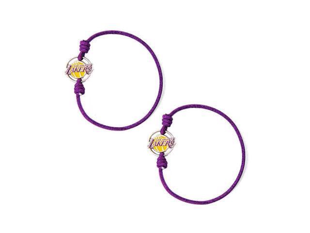 Los Angeles Lakers Stretch Bracelets Set of (2) Hair Ties - NBA