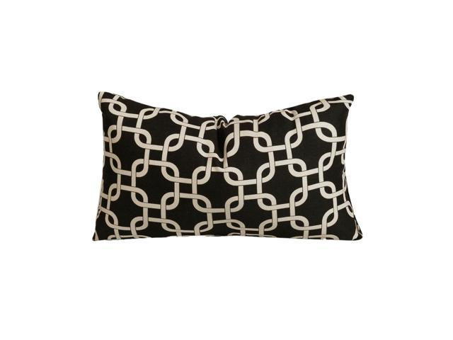 Majestic Home Goods Decorative Black Links Pillow Small