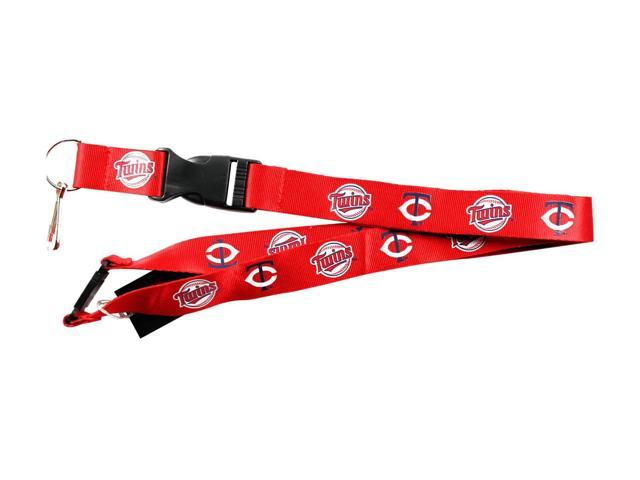 Minnesota Twins Clip Lanyard Keychain Id Ticket Holder - Red