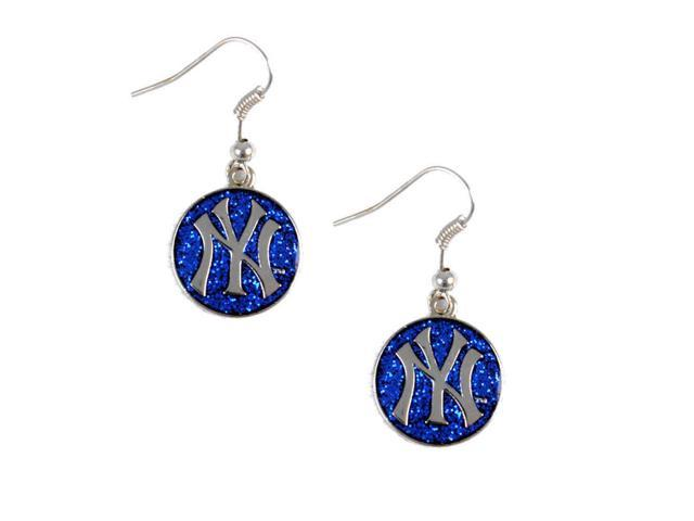 New York Yankees Glitter Sparkle Dangle Logo Earring Set Charm Gift