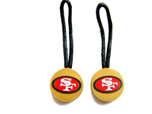 San Francisco 49ers Zipper Pull Charm Tag Set Luggage Pet ID Nfl