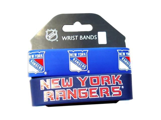 New York Rangers Rubber Wrist Band Set of 2 NHL