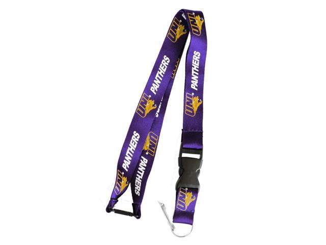 Northern Lowa Panthers Clip Lanyard Keychain Id Ticket