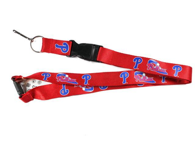Phil Phillies Clip Lanyard Keychain Id Holder Ticket RED