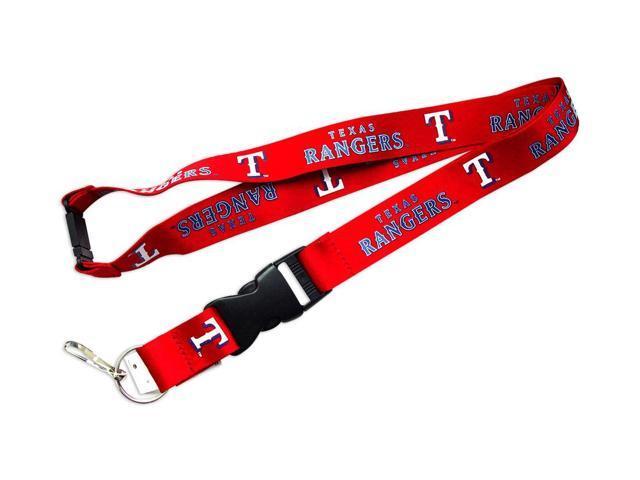Texas Rangers Clip Lanyard Keychain ID Ticket Holder-Red