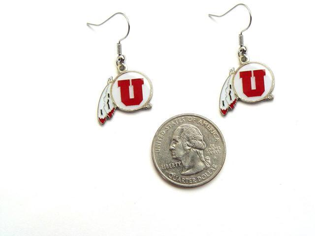 University of Utah Utes Ut NCAA Team Logo French Hook Style Charm Dangle Earring Set