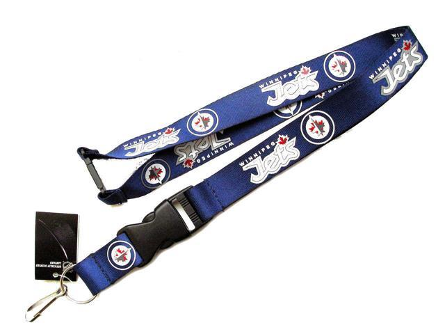 Winnipeg Jets Sports Team Logo Detachable Clip Lanyard Keychain Id Ticket Holder Blue