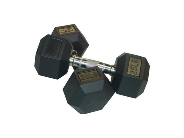 Valor Fitness 25 Lb Dumbbell (Par)