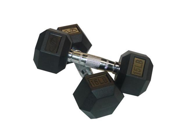 Valor Fitness 15 Lb Dumbbell (Pair)